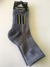 New Mens Adidas Sport Gym Fitness 2 Pack Traxion Compression Quarter Cut Socks