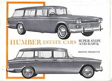 Humber Range Super Snipe Series V & Hawk Series IV Estate Cars 1964-65 Brochure