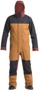 Ski Snowboard One Piece Men's Large Brown Airblaster Stretch Freedom Suit