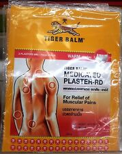 BIG Tiger Balm Warm 10 Pack 10 x 14 Cm Medicated for Relief Muscular pains