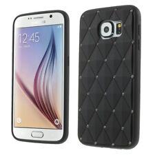 Samsung Galaxy s6 g920, funda protectora de silicona brillo bling Rhombus, funda, negra
