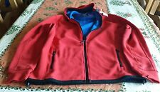MEN'S POLO RALPH LAUREN FLEECE ZIP SWEATSHIRT RED HOODIA JACKET SIZE MEDIUM SOFT