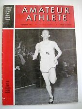 """1951 """"Amateur Athlete"""" Magazine Published by A.A.U. US - Fred Wilt on Cover *"""
