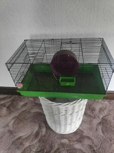 Hamster mouse gerbil cage with wheel & ladders carry handle