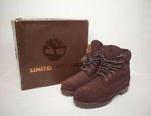 """TIMBERLAND 6"""" Premium Boots Dark Port Silk (TB0A18QB C60), Sz 11 Limited Release"""