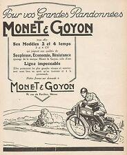 Y9693 Motocyclettes MONET & GOYON - Pubblicità d'epoca - 1926 Old advertising