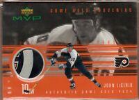 JOHN LeCLAIR 1998/99 UD Upper Deck MVP SOUVENIRS Game Used PUCK Card *RARE*