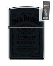 Zippo 1512 Jack Daniels Old No. 7 Black Matte Finish Lighter + FLINT PACK