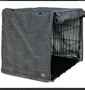"""NEW Molly Mutt MEDIUM Dog Crate Cover 30x21x24"""" Panels roll down. Opens on sides"""