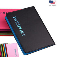 Leather Travel Passport Holder Card Cover Case Adventure Wallet Pouch