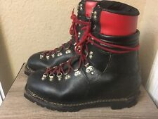 Vtg 1970's RARE! Lowa Eiger Hiebler Leather Mountaineering Boots Germany US 12