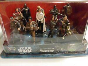Disney Store Star Wars Rogue One Deluxe 10 Figure Figurine Set