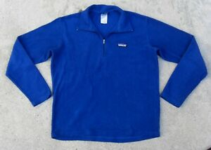 PATAGONIA SYNCHILLA Lightweight pullover Fleece Jacket Men's Small Blue