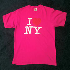 I LOVE NY - T-SHIRT - PINK - Red Heart New York Official - L LARGE