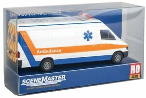 Walthers HO Scale Service Van (Assembled) Ambulance/EMS (White/Orange/Blue)