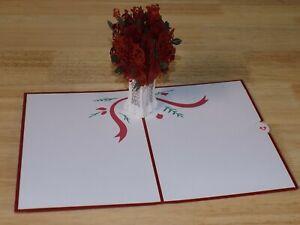 Lovepop Greeting Card 3D Pop Up Birthday Wedding Mothers Day Valentine Flowers