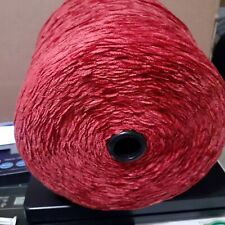 Rayon Chenille Yarn 2010 ypp Weaving Knitting Crocheting Flame Red Free Shipping