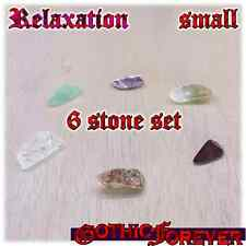 Relaxation Calming Peaceful Healing Gemstone Kit Set of 6 SMALL 10mm Stones