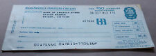 1970 Bank of America Unused Travelers Cheques, Saigon branch Booklet of 10 x $50