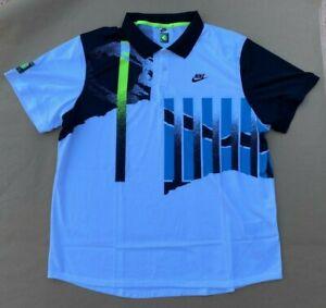 NIKE Tennis Challenge Court Agassi Polo Shirt CK9793-101 Size XXL