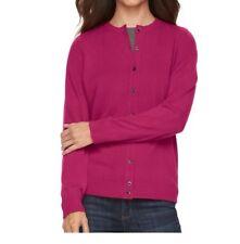 Croft & Barrow Women's Magenta Button Down Cardigan Sweater Size Medium NWT