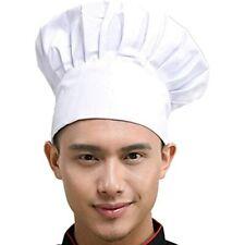 Chef Hat Adult Adjustable Elastic Baker Kitchen Cooking Cap, White Home &amp