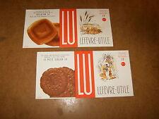 2 anciens buvards - LU biscuits ( N° 4 + N° 5 ) LEFEVRE UTILE - années 50