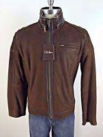 Cole Haan NWT BROWN Rugged Genuine Lambskin Shearling Men's Jacket size L XL XXL