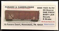Funaro F&C 8060  LOUISVILLE NASHVILLE 1923 Wood L&N 4c/4d Boxcar K-Brake 1-PIECE