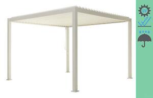 Sorara Mirador Basic Alu-Stahl-Pavillon Lamellendach 3 x 3 M weiss, Pergola,