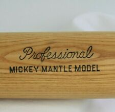 Vtg 1960's Louisville KY Wood Bat 1000 H&B Professional Mickey Mantle Glasgrip