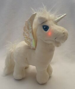 Neopets Talking Uni Unicorn Pegasus Alicorn White and Iridescent 2003