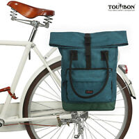 Tourbon Bike Rear Rack Bag Saddle Panniers Shoulder Case Multi-purpose Backpack