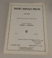 Short Service Pieces for Organ 1967 Norris L Stephens-Pipe, Hammond & Electronic