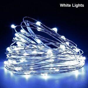 Waterproof LED String light copper wire white Bulb Battery 1M Chrismas Decorator