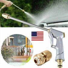 High Pressure Water Spray Gun Nozzle Adjustable Wand Attachment Garden Hose US