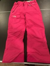 The North Face Hyvent Waterproof Hike Snow Ski Pants Magenta Pink Girls Sz 18/XL