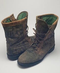 Mens Cabelas Thinsulate Gore-Tex Lace Up Hunting Boots Brown Camo Size 10