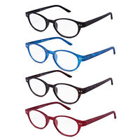 Reading Glasses Style Retro Round Readers Spring Hinge Lady Women 4 Pairs /Pack