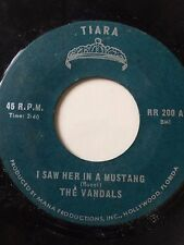 """RARE FLORIDA GARAGE FUZZ 45/ THE VANDALS """"I SAW HER IN A MUSTANG""""   HEAR!"""