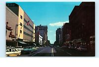 *Riverside Street Spokane Washington WA Zukor's Old Cars Vintage Postcard C07
