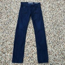 Guess Alameda Slim Tapered Blue Jeans Dark Waxed Wash Studded Men's 28 x 34