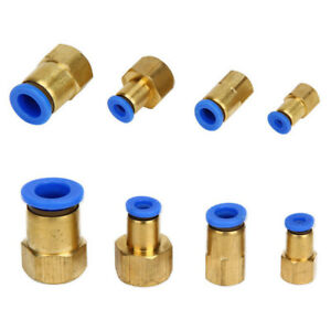Pneumatic Female Thread BSP Stud to Push In Fitting Connector For Air Water New