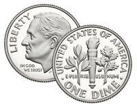 2019 S,S,P,D Roosevelt Dimes S Silver,S Proof, D,P UNC All 4 2019 Update Set
