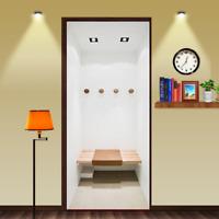 3D Dressing Room Self-Adhesive Door Murals Bedroom Wall Stickers Wallpaper Decor