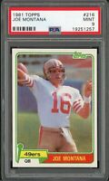 1981 Topps Football | Joe Montana ROOKIE RC # 216 | PSA 9 MINT | Looks Like 10