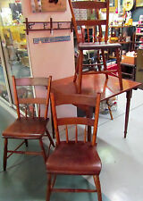 1900-1950 American - Vintage - Retro Wood Inlay Card Table & 3 Chairs