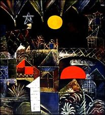 Hand Painted Oil Painting Repro Paul Klee Moonrise and Sunset 36x40in