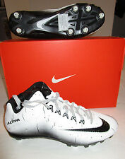 Nib Mens Nike Vapor Pro 2 3/4 White Black Football Cleats Spikes Shoes 11.5 $100
