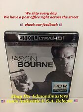 Jason Bourne 4K Blu-ray + Digital HD Brand New Sealed Ships out Fast!!